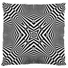 Black And White Line Art Pattern Stripes Standard Flano Cushion Case (two Sides)