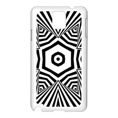Black And White Line Art Stripes Pattern Samsung Galaxy Note 3 N9005 Case (white) by SpinnyChairDesigns