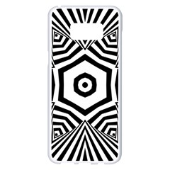 Black And White Line Art Stripes Pattern Samsung Galaxy S8 Plus White Seamless Case by SpinnyChairDesigns