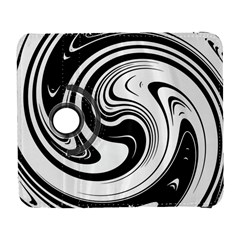 Black And White Swirl Spiral Swoosh Pattern Samsung Galaxy S  Iii Flip 360 Case by SpinnyChairDesigns
