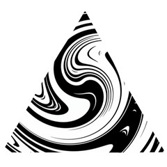Black And White Swirl Spiral Swoosh Pattern Wooden Puzzle Triangle