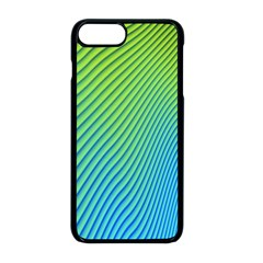Blue Green Abstract Stripe Pattern  Iphone 8 Plus Seamless Case (black)