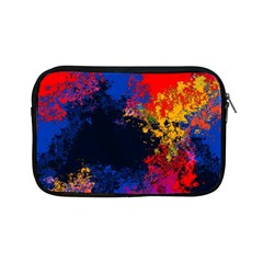 Colorful Paint Splatter Texture Red Black Yellow Blue Apple Ipad Mini Zipper Cases by SpinnyChairDesigns