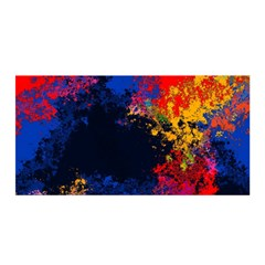 Colorful Paint Splatter Texture Red Black Yellow Blue Satin Wrap
