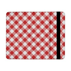 Picnic Gingham Red White Checkered Plaid Pattern Samsung Galaxy Tab Pro 8 4  Flip Case by SpinnyChairDesigns