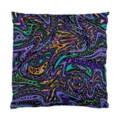 Multicolored Abstract Art Pattern Standard Cushion Case (one Side) by SpinnyChairDesigns