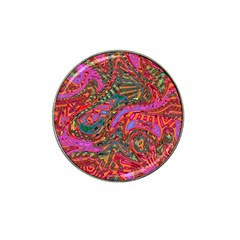 Abstract Art Multicolored Pattern Hat Clip Ball Marker (4 Pack) by SpinnyChairDesigns