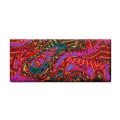 Abstract Art Multicolored Pattern Hand Towel by SpinnyChairDesigns