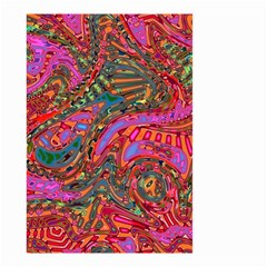 Abstract Art Multicolored Pattern Small Garden Flag (two Sides) by SpinnyChairDesigns
