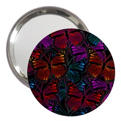 Colorful Monarch Butterfly Pattern 3  Handbag Mirrors by SpinnyChairDesigns
