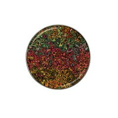Stylish Fall Colors Camouflage Hat Clip Ball Marker (4 Pack) by SpinnyChairDesigns