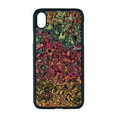 Stylish Fall Colors Camouflage Iphone Xr Seamless Case (black) by SpinnyChairDesigns