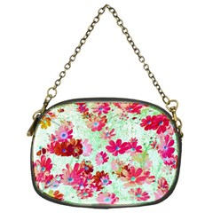 Cosmos Flowers Red Chain Purse (one Side)