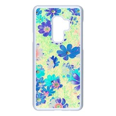 Cosmos Flowers Blue Samsung Galaxy S9 Plus Seamless Case(white)