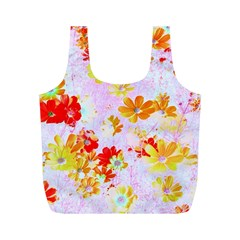 Cosmos Flowers Orange Full Print Recycle Bag (m)