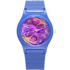 Infinity Painting Purple Round Plastic Sport Watch (s)