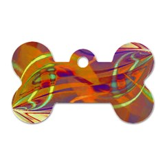 Infinity Painting Orange Dog Tag Bone (one Side)