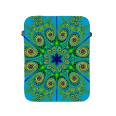 Peacock Mandala Kaleidoscope Arabesque Pattern Apple Ipad 2/3/4 Protective Soft Cases by SpinnyChairDesigns