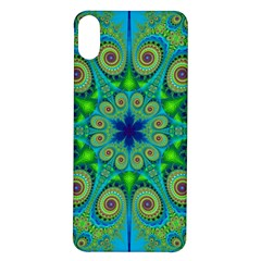Peacock Mandala Kaleidoscope Arabesque Pattern Iphone X/xs Soft Bumper Uv Case by SpinnyChairDesigns