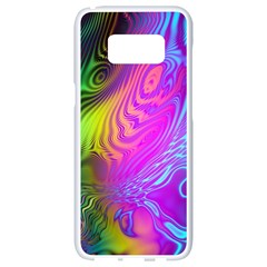 Psychedelic Swirl Trippy Abstract Art Samsung Galaxy S8 White Seamless Case