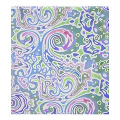 Colorful Pastel Floral Swirl Watercolor Pattern Shower Curtain 66  X 72  (large)  by SpinnyChairDesigns