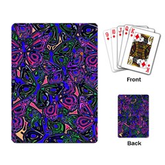 Purple Abstract Butterfly Pattern Playing Cards Single Design (rectangle)