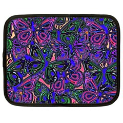 Purple Abstract Butterfly Pattern Netbook Case (xl) by SpinnyChairDesigns