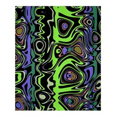Green And Black Abstract Pattern Shower Curtain 60  X 72  (medium)  by SpinnyChairDesigns