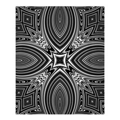 Black And White Intricate Pattern Shower Curtain 60  X 72  (medium)  by SpinnyChairDesigns