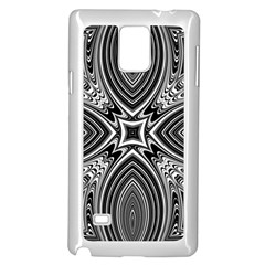 Black And White Intricate Pattern Samsung Galaxy Note 4 Case (white) by SpinnyChairDesigns