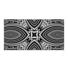 Black And White Intricate Pattern Satin Wrap by SpinnyChairDesigns