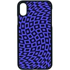 Abstract Black And Purple Checkered Pattern Iphone Xs Seamless Case (black)
