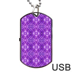 Geometric Galaxy Pattern Print Dog Tag Usb Flash (two Sides)
