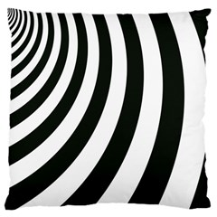 Black And White Zebra Stripes Pattern Standard Flano Cushion Case (one Side)