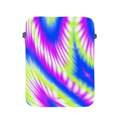 Colorful Blue Purple Pastel Tie Dye Pattern Apple Ipad 2/3/4 Protective Soft Cases by SpinnyChairDesigns