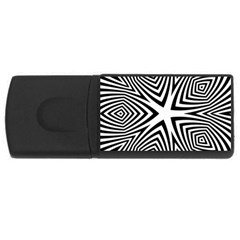 Abstract Zebra Stripes Pattern Rectangular Usb Flash Drive by SpinnyChairDesigns