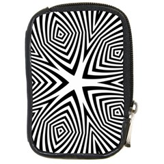 Abstract Zebra Stripes Pattern Compact Camera Leather Case by SpinnyChairDesigns