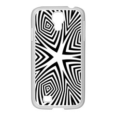 Abstract Zebra Stripes Pattern Samsung Galaxy S4 I9500/ I9505 Case (white) by SpinnyChairDesigns