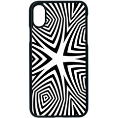 Abstract Zebra Stripes Pattern Iphone X Seamless Case (black) by SpinnyChairDesigns