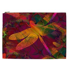 Dragonflies Abstract Colorful Pattern Cosmetic Bag (xxl)