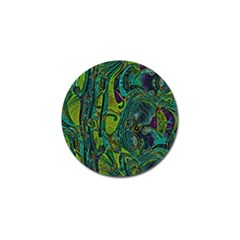 Jungle Print Green Abstract Pattern Golf Ball Marker (10 Pack) by SpinnyChairDesigns