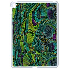 Jungle Print Green Abstract Pattern Apple Ipad Pro 9 7   White Seamless Case