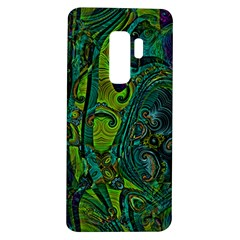 Jungle Print Green Abstract Pattern Samsung Galaxy S9 Plus Tpu Uv Case by SpinnyChairDesigns