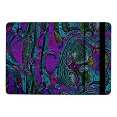 Purple Teal Abstract Jungle Print Pattern Samsung Galaxy Tab Pro 10 1  Flip Case by SpinnyChairDesigns