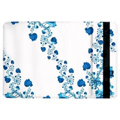 Abstract Blue Flowers On White Ipad Air 2 Flip by SpinnyChairDesigns
