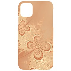 Coral Peach Intricate Swirls Pattern Iphone 11 Black Uv Print Case by SpinnyChairDesigns