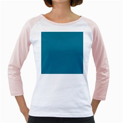 Mosaic Blue Pantone Solid Color Girly Raglan by FlagGallery