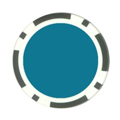 Mosaic Blue Pantone Solid Color Poker Chip Card Guard by FlagGallery