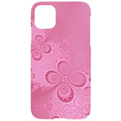 Pink Intricate Swirls Pattern Iphone 11 Black Uv Print Case by SpinnyChairDesigns