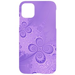 Purple Intricate Swirls Pattern Iphone 11 Black Uv Print Case by SpinnyChairDesigns